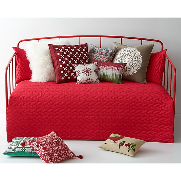 Red Cable Twin Quilt