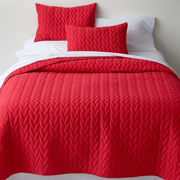 Red Cable Full-Queen Quilt