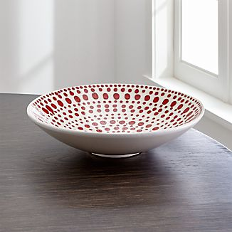 Red Dot Centerpiece Bowl