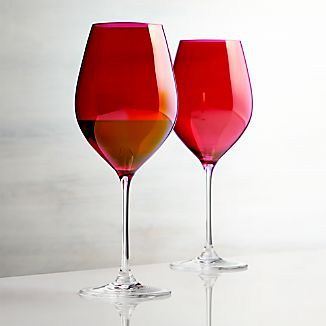 Red Luster Wine Glass