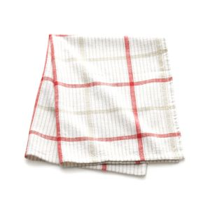 Red Neutral Plaid Dishtowel