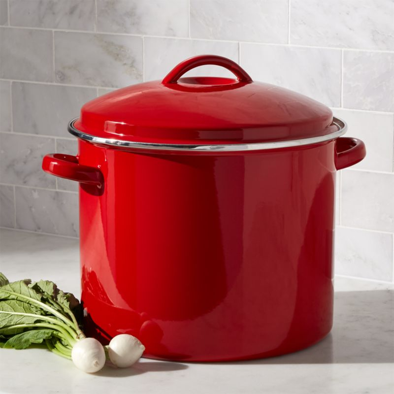 Red 16-Qt. Stockpot