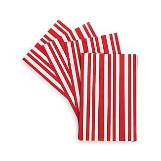 Set of 24 Red Stripe Basket Liners
