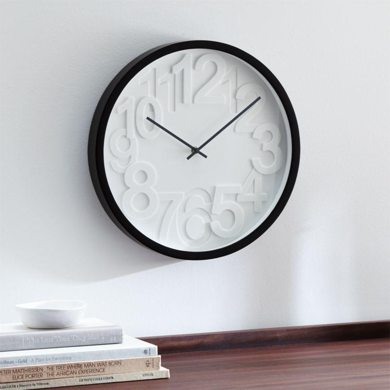 wall clocks  crate and barrel,