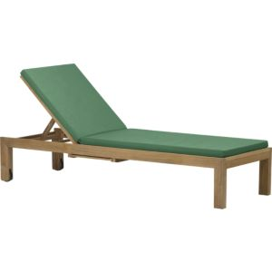 Regatta Chaise Lounge with Sunbrella® Bottle Green Cushion
