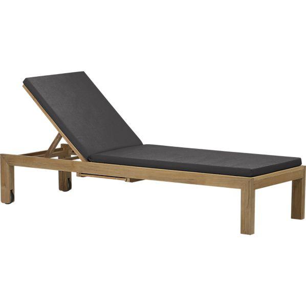 Regatta Chaise Lounge with Sunbrella ® Charcoal Cushion