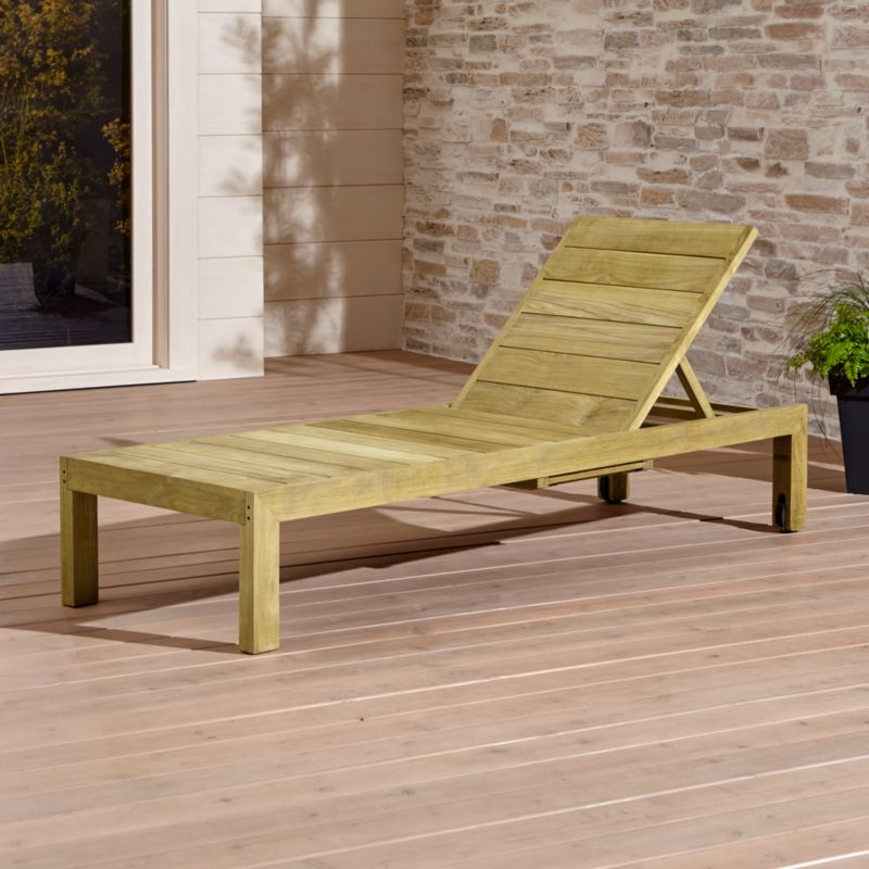 Cutting a clean, classic profile in a bold wide-slat design, our four-position Regatta chaise lounge is handcrafted of the highest quality teak in the world. Certified by the Forest Stewardship Council (FSC), the environmental gold standard, Grade A plantation-grown teak is an investment that can weather the elements year after year. <NEWTAG/><ul><li>Handcrafted</li><li>Solid FSC-certified teak</li><li>Unfinished</li><li>Mortise-and-tenon joinery</li><li>Stainless steel hardware</li><li>Adjusts to 4 positions, including flat</li><li>Two rear wheels</li><li>Made in Indonesia</li></ul><br />