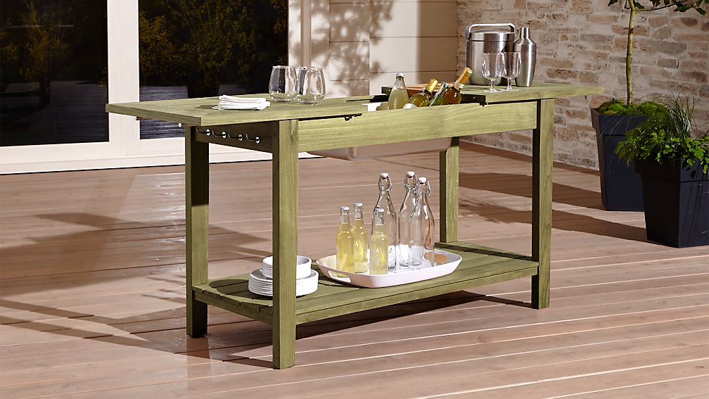 Regatta Console Bar Work Station Crate And Barrel