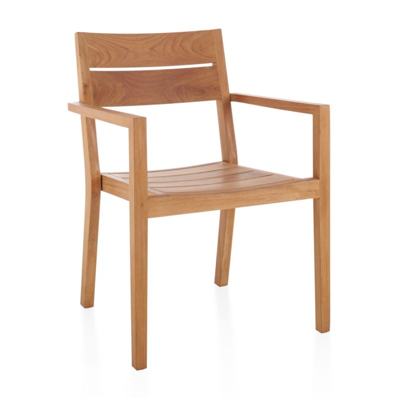 Handcrafted of Grade A plantation-grown teak, the highest quality teak in the world, our Regatta outdoor dining chair cuts a clean, classic profile in our exclusive, bold wide-slat design. Certified by the Forest Stewardship Council (FSC), the environmental gold standard, this top-quality teak is an investment that will weather the elements for years to come. <NEWTAG/><ul><li>Handcrafted</li><li>Solid FSC-certified teak</li><li>Unfinished</li><li>Mortise-and-tenon joinery</li><li>Stainless steel hardware</li><li>Made in Indonesia</li></ul><br />