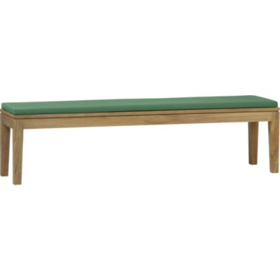 Regatta Dining Bench with Sunbrella® Bottle Green Cushion