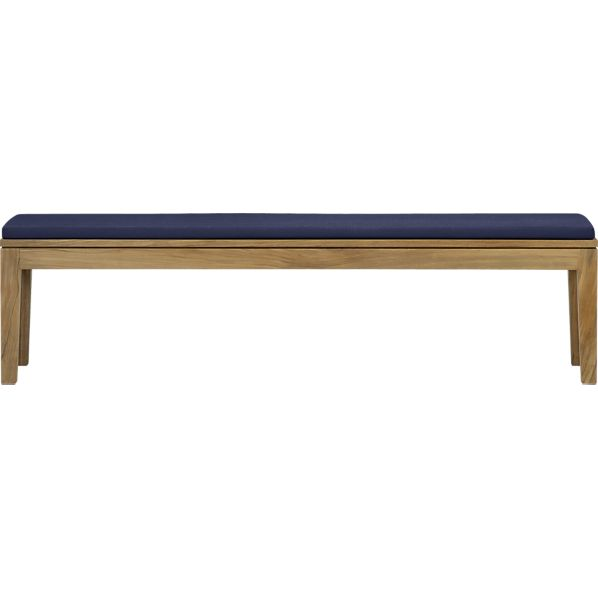 Regatta Dining Bench with Sunbrella ® Indigo Cushion