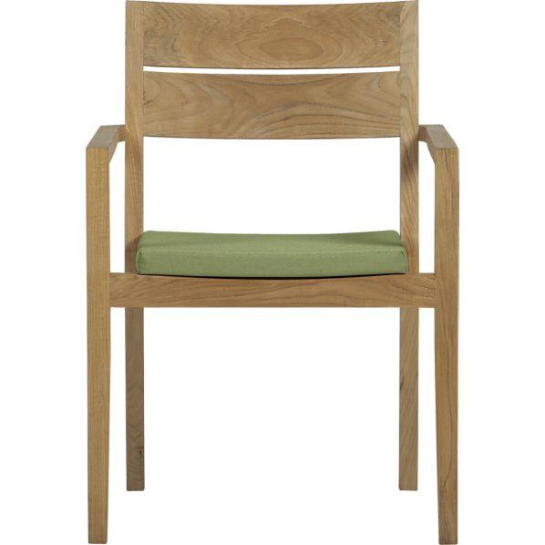Regatta Dining Chair with Sunbrella ® Cilantro Cushion