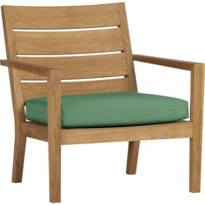 Regatta Lounge Chair with Sunbrella® Bottle Green Cushion