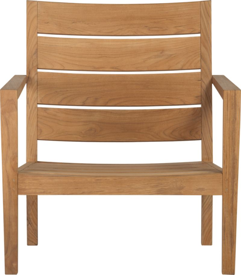 Our new eco-friendly Regatta teak lounge collection cuts a clean, classic profile in a bold wide-slat design. Relax in a generous lounge chair with sleek arms and comfortable angled backs. All pieces are handcrafted of plantation-grown teak supported by the TFT, a nonprofit organization that promotes responsible forest conservation. We recommend allowing the unfinished teak to weather to a silvery grey. To maintain the natural color, use our Golden Care® Teak Protector.<br /><ul><li>Solid teak harvested from plantations working with TFT</li><li>Unfinished</li><li>Mortise-and-tenon  joinery</li><li>Stainless steel hardware</li><li>Made in Indonesia</li></ul><NEWTAG/>