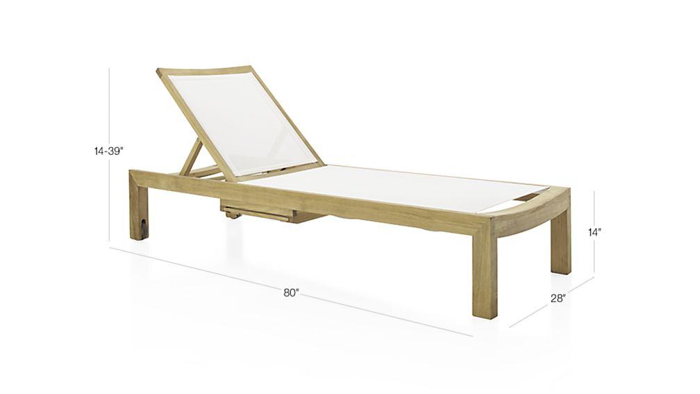 Regatta Mesh Chaise Lounge Crate And Barrel