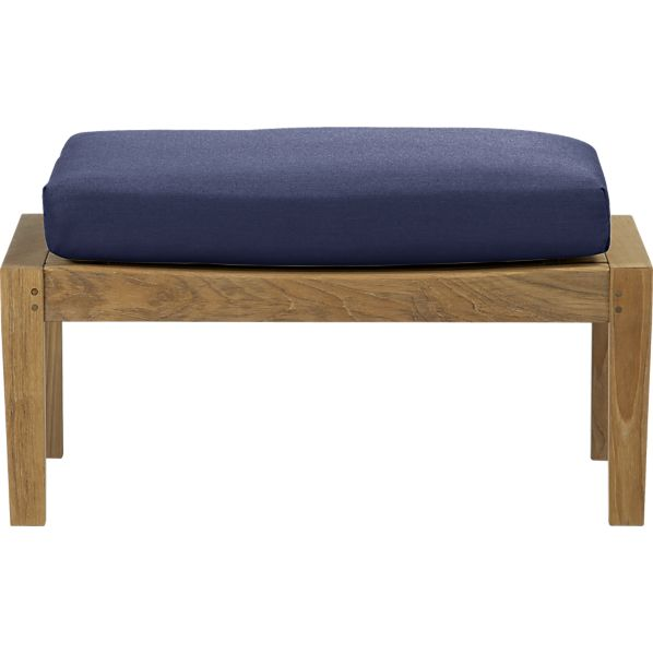 Regatta Ottoman with Sunbrella ® Indigo Cushion
