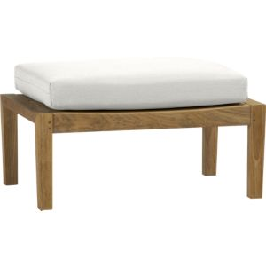 Regatta Ottoman with Sunbrella® White Sand Cushion