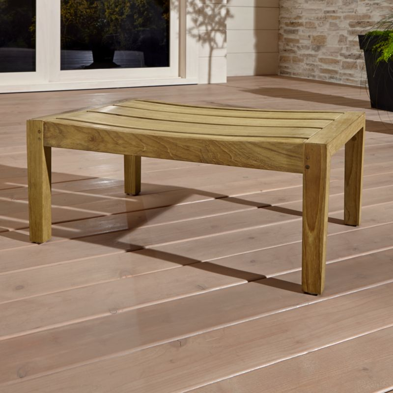 Handcrafted of the world's highest quality teak, our exclusive Regatta outdoor collection cuts a clean, classic profile in a bold wide-slat design. Certified by the Forest Stewardship Council (FSC), the environmental gold standard, Regatta's Grade A plantation-grown teak is an investment that can weather the elements year after year. <NEWTAG/><ul><li>Handcrafted</li><li>Solid FSC-certified teak</li><li>Unfinished</li><li>Mortise-and-tenon joinery</li><li>Stainless steel hardware</li><li>Made in Indonesia</li></ul><br />