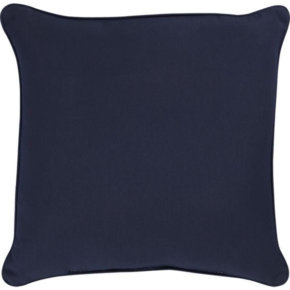 """Sunbrella ® Indigo 20"""" Sq. Outdoor Pillow"""