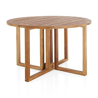 teak dining table crate and barrel. Black Bedroom Furniture Sets. Home Design Ideas