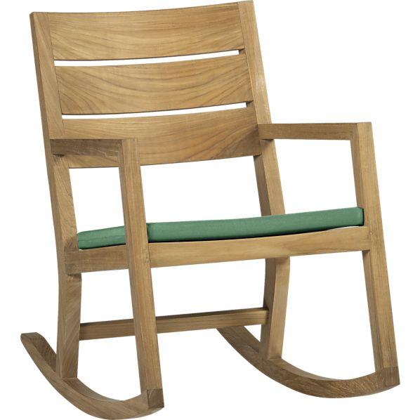 Regatta Rocking Chair with Sunbrella ® Bottle Green Cushion