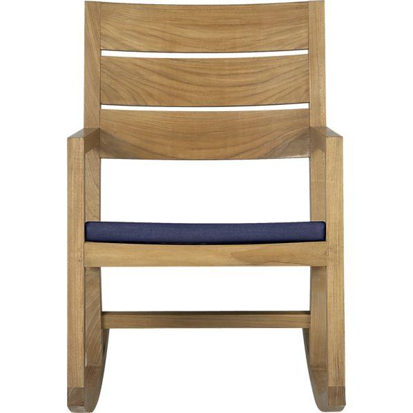 Regatta Rocking Chair with Sunbrella ® Indigo Cushion