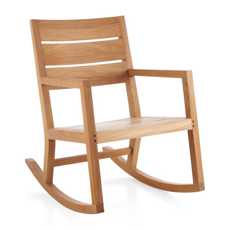 The Regatta rocking chair reinterprets the traditional porch rocker with a clean, classic profile in a bold wide-slat design, handcrafted of the highest quality teak in the world. Certified by the Forest Stewardship Council (FSC), the environmental gold standard, Grade A plantation-grown teak is an investment that can weather the elements for years to come. <NEWTAG/><ul><li>Handcrafted</li><li>Solid FSC-certified teak</li><li>Unfinished</li><li>Mortise-and-tenon joinery</li><li>Stainless steel hardware</li><li>Made in Indonesia</li></ul><br />