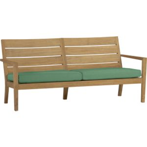 Regatta Sofa with Sunbrella® Bottle Green Cushions