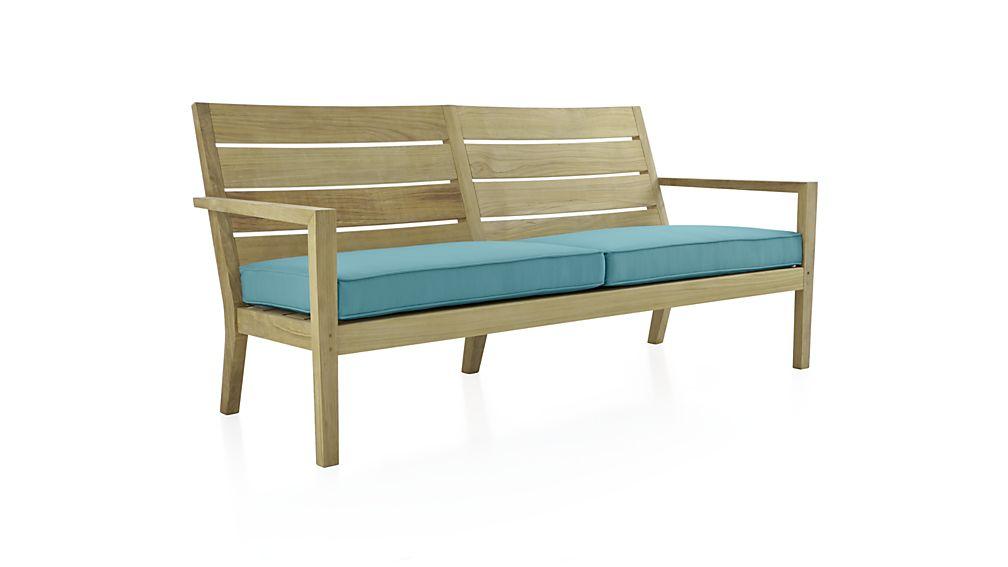 Regatta Sofa With Sunbrella Cushion Sunbrella Mineral
