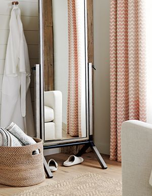 "Reilly Orange Chevron 50""x84"" Curtain Panel"