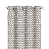 "Reilly Grey Chevron 50""x84"" Curtain Panel"