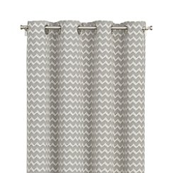 "Reilly Grey Chevron 50""x84"" Curtain Panel"