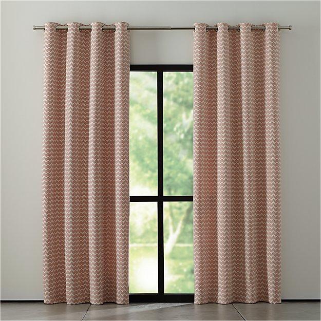 Reilly Orange Chevron Curtains