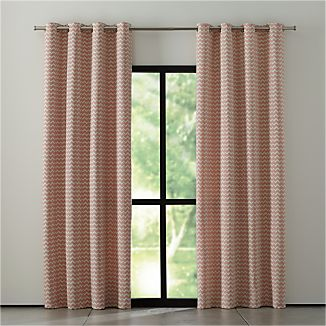 Reilly Orange Chevron Curtains