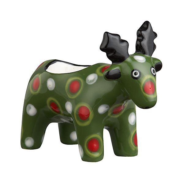 Dotted Reindeer Candleholder