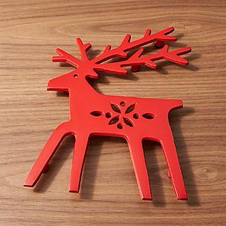 Red Reindeer Trivet