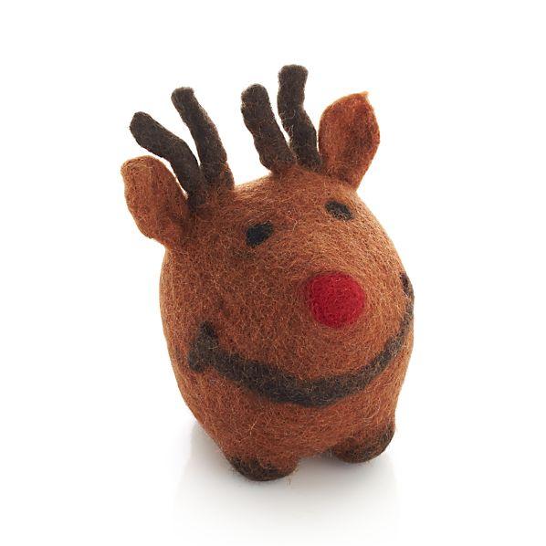 Wool Reindeer Dog Toy