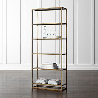 bookcases wood metal and glass crate and barrel. Black Bedroom Furniture Sets. Home Design Ideas