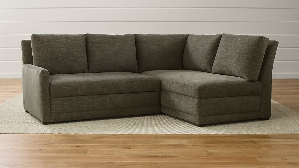 Reston sectional sofa bed curious fossil crate and barrel for Sectional sofa bed crate and barrel