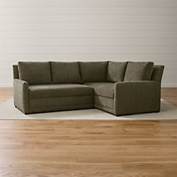 Reston 2 Piece Sleeper Sectional Sofa Curious Charcoal