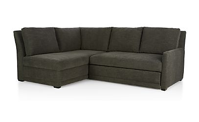 Reston Sleeper Sectional Sofa Curious Charcoal Crate