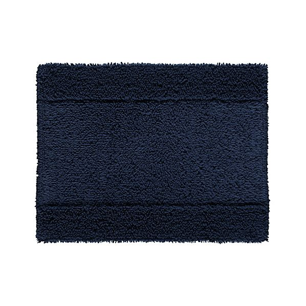 "Reversible Navy 18""x24"" Bath Rug"