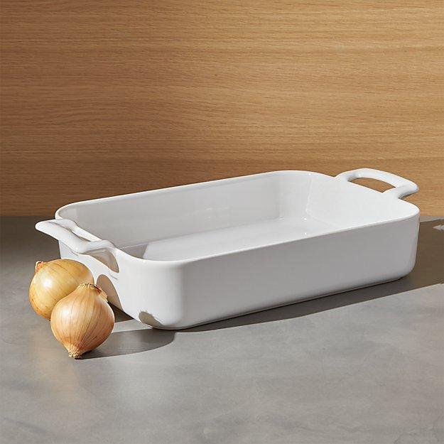 """Revol Belle Cuisine Rectangular White 11.75""""x8.5"""" Baking Dish"""