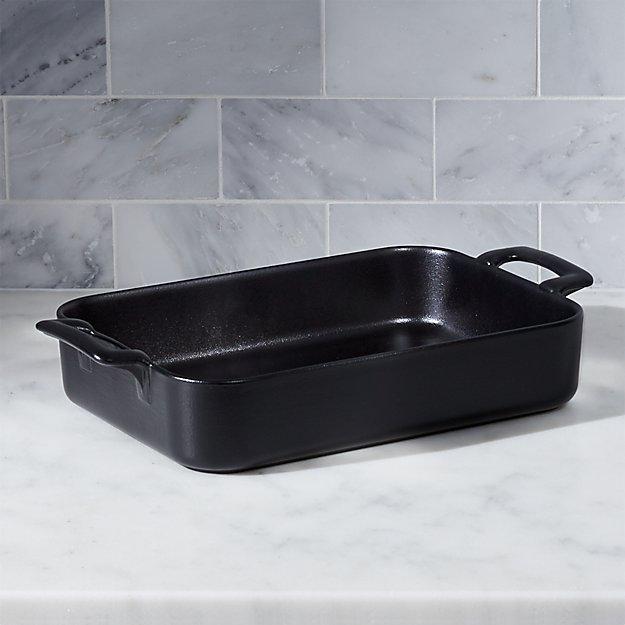 "Revol Belle Cuisine Rectangular Black 11.75""x8.5"" Baking Dish"