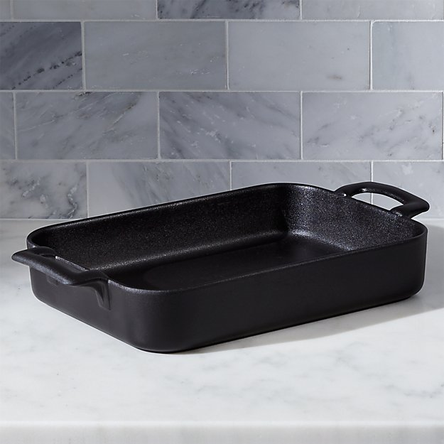 Revol belle cuisine rectangular black 13 5 baking for Revol belle cuisine