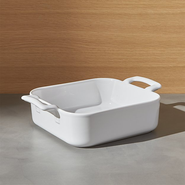 Revol belle cuisine white square baking dish crate and for Revol belle cuisine