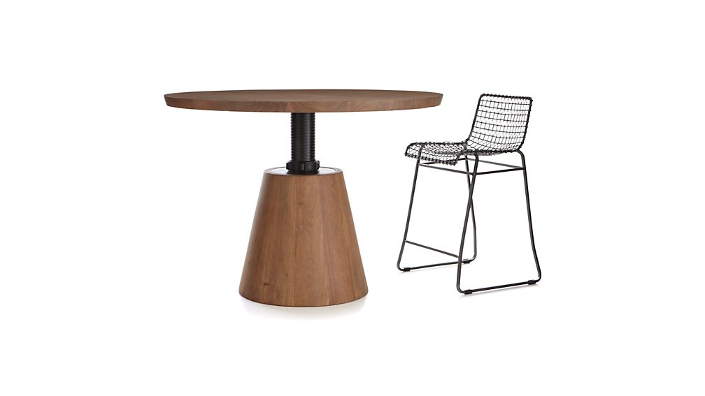 Revolve 48 Quot Round Adjustable Height Dining Table Crate