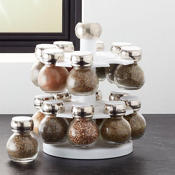 Revolving Spice Rack with 16 Jars