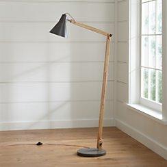 Rex Grey Floor Lamp