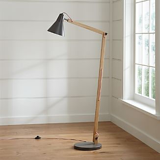 Rex Grey Floor Lamp